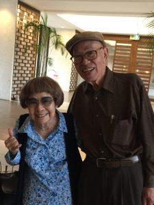 Janice Suetomi with her younger brother, Kiyonobu Tamaki, in Okinawa.
