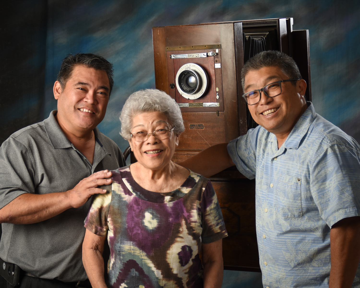 The Nagamine Photo Studio family, from left: Ty Shimomura, mom Florence (Nagamine) Shimomura and Rick Shimomura. (Photo courtesy Rick Shimomura)