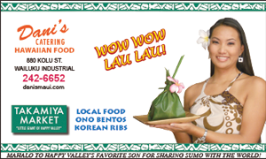 Ad for Takamiya Market, Maui