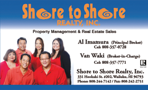Ad for Shore to Shore Realty, Wailuku, Maui
