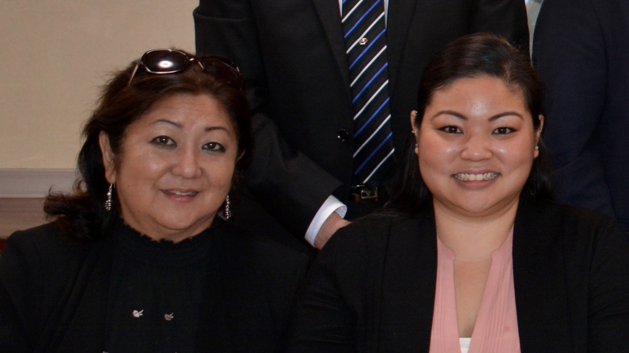 """Okinawan Festival chair Jocelyn """"Jo"""" Ige and HUOA president Courtney Takara. """"We are trying to be prudent about our expenses,"""" said Takara. (Photo courtesy Courtney Takara)"""