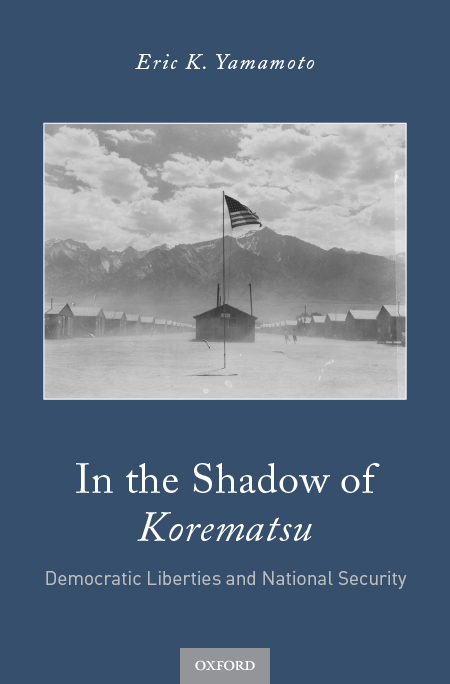Book cover with title 'In the Shadow of Korematsu' by Eric K. Yamamoto