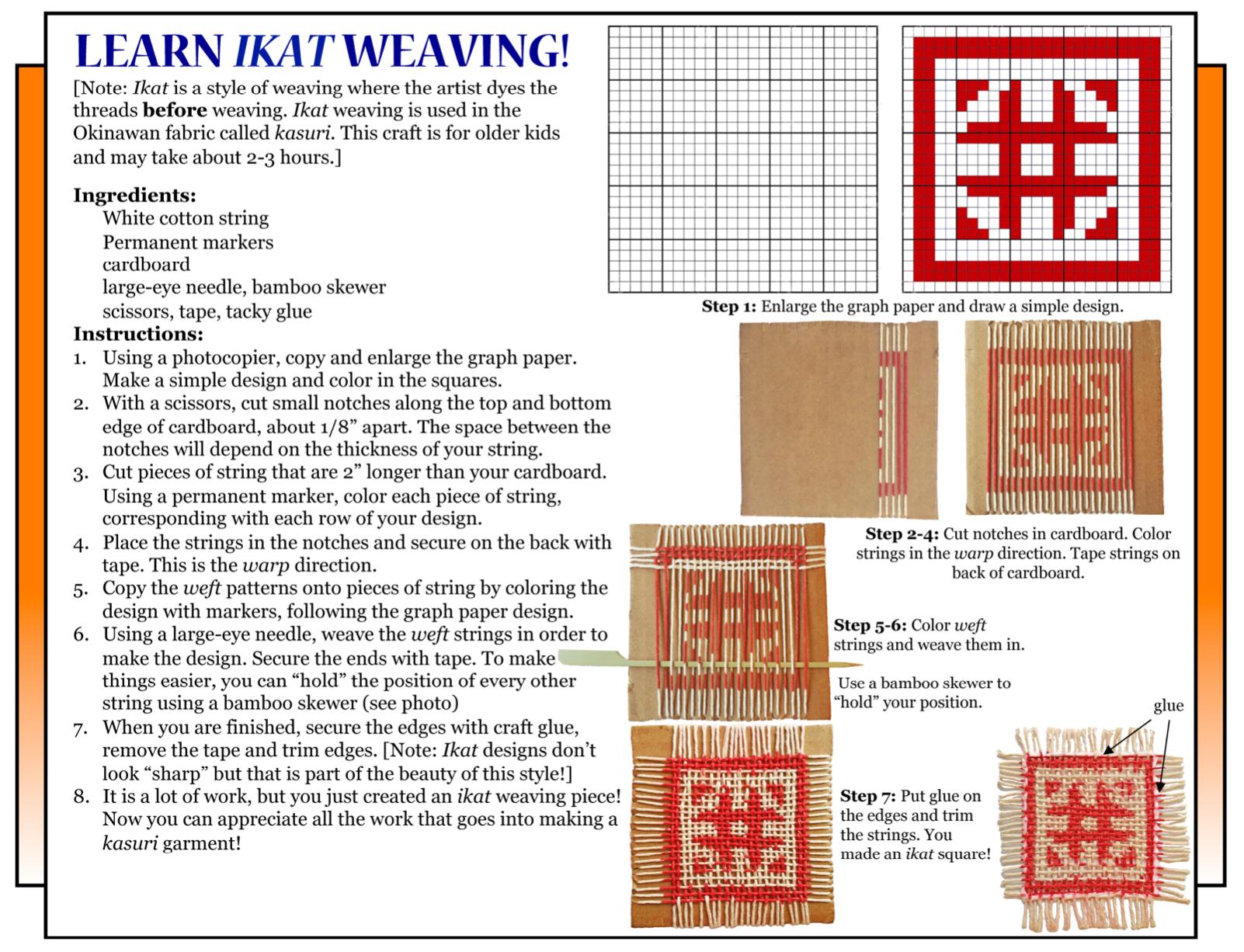 Culture4Kids! 35th Okinawan Festival 'Learn Ikat Weaving!'