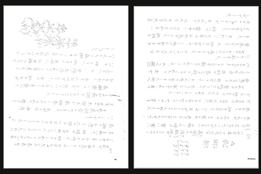 An essay on Thanksgiving hand-written by Haru Tanaka.