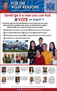 Ad for Governor Candidate, David Ige
