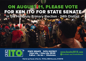 Ad for State Senate Candidate, Ken Ito