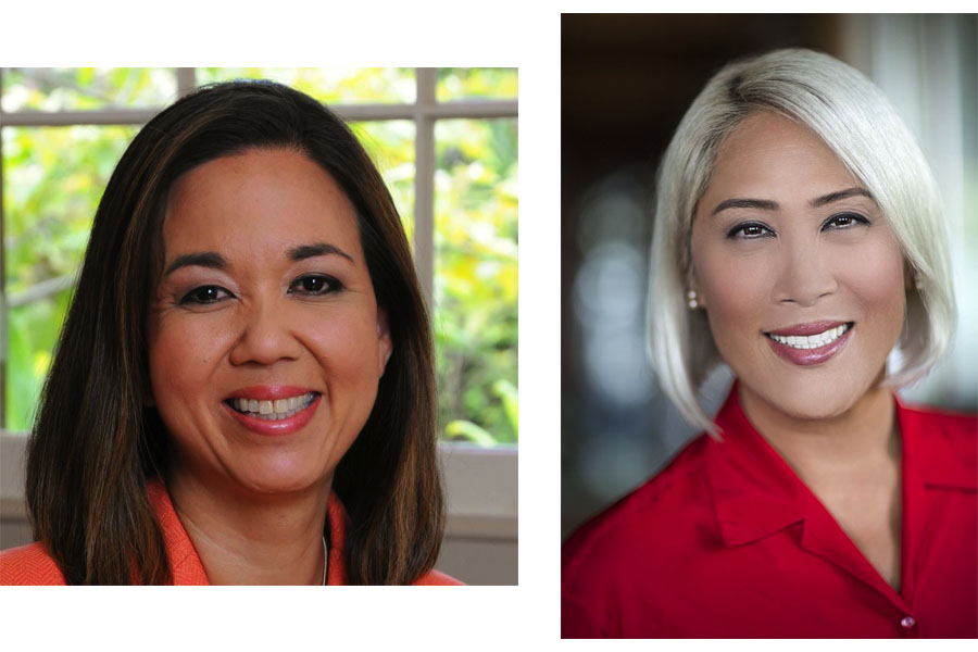 Headshots of Lieutenant Governor Candidates, Jill Tokuda and Kim Coco Iwamoto