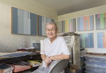 """He keeps looking for visual patterns, similarities, recurring motifs in the wild disorder of everyday life,"" says art critic Wayne Muromoto of 86-year-old artist Harry Tsuchidana."
