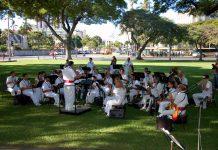 Photo of the Royal Hawaiian Band playing at Manoa Valley Church