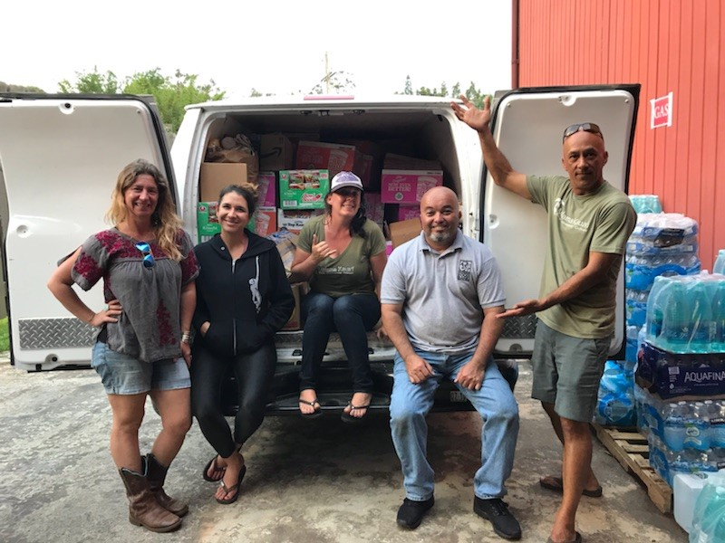 Members of the Hawaii Foodbank – Kaua'i branch, from left: Sarah Krantz, Aria Juliet, Megan Fox, Wes Parreira and Donovan Cabebe. (Photo courtesy Hawaii Foodbank)