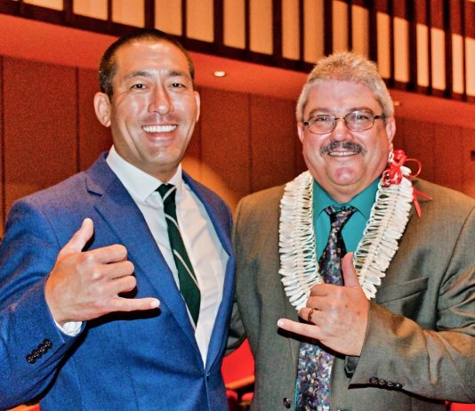 Councilman Derek Kawakami (left), County Council Chairman Mel Rapozo are in the final weeks of campaigning to succeed termed-out Mayor Bernard Carvalho as chief executive of Kaua'i County.