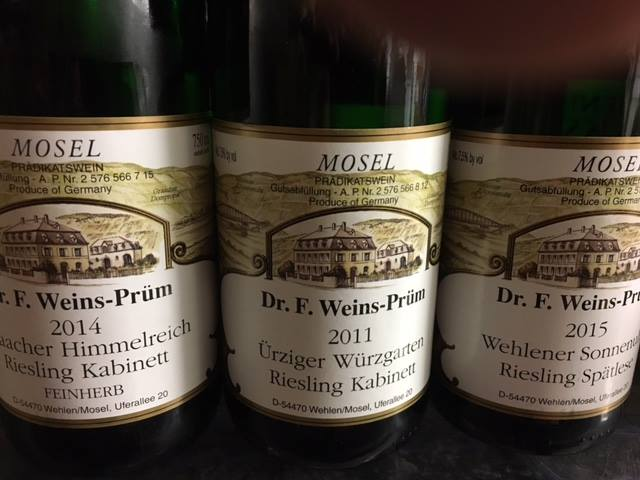 Selections from the Weingut Dr Weins Prum label.