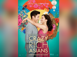 "Movie Poster with title ""Crazy Rich Asians"""