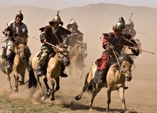 Dan found this internet photo of Mongol cavalrymen riding their tiny horses that originated from the Mongolian steppe. It is believed that they evolved into the Yonaguni and Miyako horses now nearing extinction in Okinawa. (Source: https://www.lingualift.com/blog/japanese-horse-breeds/)