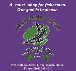 Ad for Lihue Fishing Supply