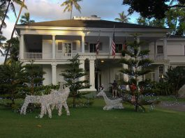 Washington Place, the official residence of Hawaii's governor. (Photo courtesy Washington Place Foundation)