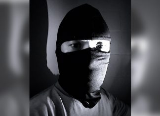 Photo of a masked thief for article on 'Home Invasion'