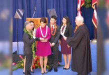 Governor David Ige getting sworn in for his 2nd term as Hawaii's Governor