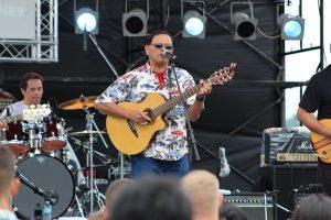 Malani Bilyeu at the Camp Foster concert.