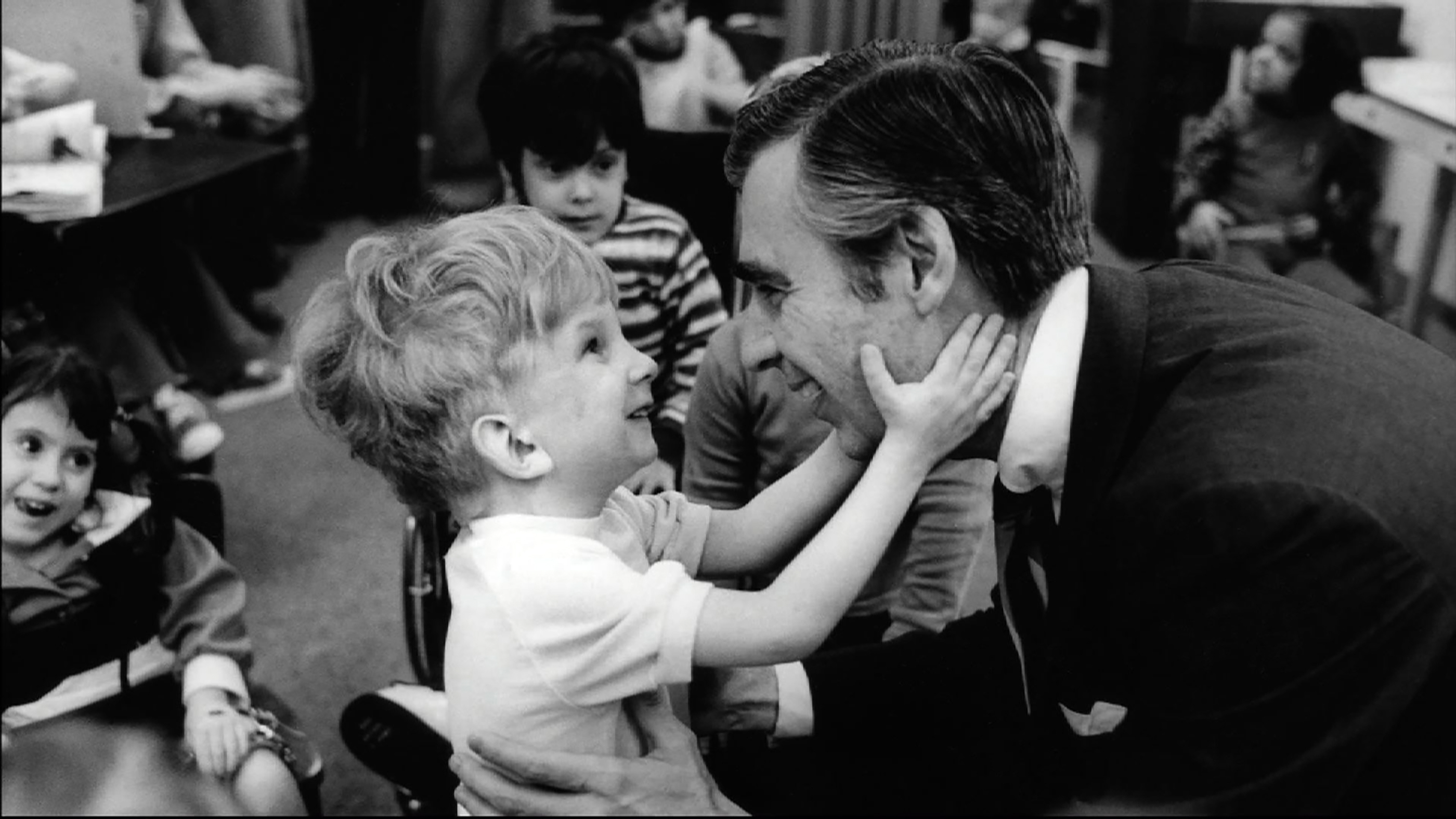 """Fred Rogers meets with a disabled boy in the film, """"Won't You Be My Neighbor?,"""" a Focus Features release. (Credit: Jim Judkis)"""