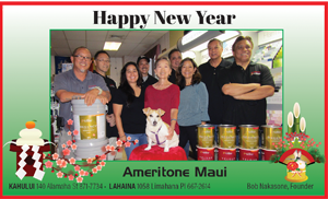 Ad for Ameritone Maui 'Happy New Year'