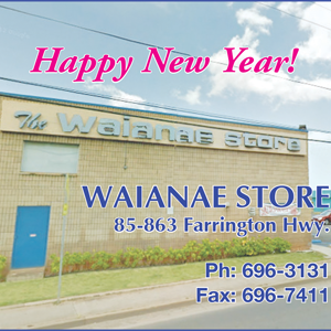 Ad for Waianae Store 'Happy New Year!'