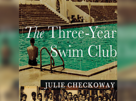 Book Cover, titled 'The Three-Year Swim Club' by Julie Checkoway