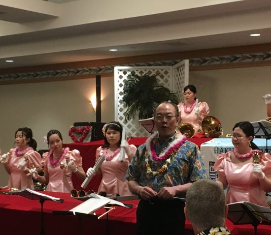 Photo of the Hakuoh University Handbell Choir from Tochigi Prefecture