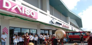 A taiko performance marked the opening of Hawai'i's first Daiso store at the Pearl City Shopping Center.