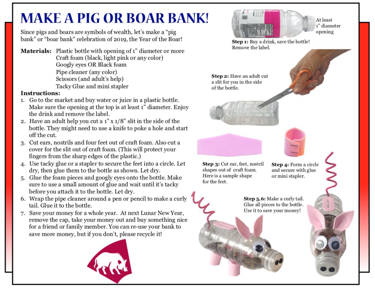 Culture 4Kids! 'Make a Pig or Boar Bank'