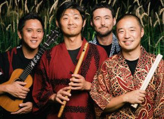 "Group 'On Ensemble', featuring: Shoji Kameda, Masato ""Maz"" Baba, Eien Hunter-Ishikawa and Abe Lagrimas Jr."