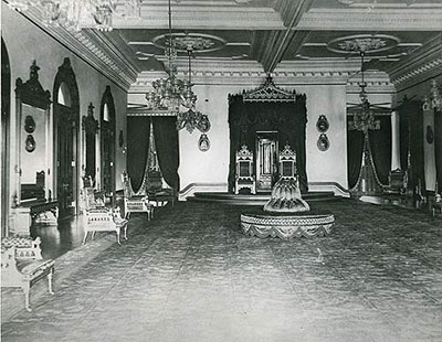 The Throne Room post 1887. (Photos from iolanipalace.org)
