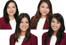 67th Cherry Blossom Festival Queen Contestants: Kallista Hiraoka (top left), Taylor Chee (bottom left), Michelle Chen (top right), and Jacqueline Arelliano (bottom right)