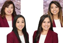 67th Cherry Blossom Festival Queen Contestants: Jaimee Sambrano (top left), Ariel Lee (bottom left), Reeann Minatoya (top right), and Kalei Kagawa (bottom right)