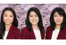 67th Cherry Blossom Festival Queen Contestants: Kayla Ueshiro (left), Lauren Sugai (center), Katrina Shimomura (right)