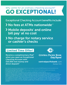 Ad for Central Pacific Bank