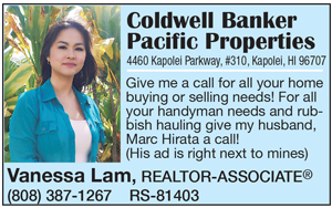 Ad for Coldwell Banker Pacific Properties, Vanessa Lam