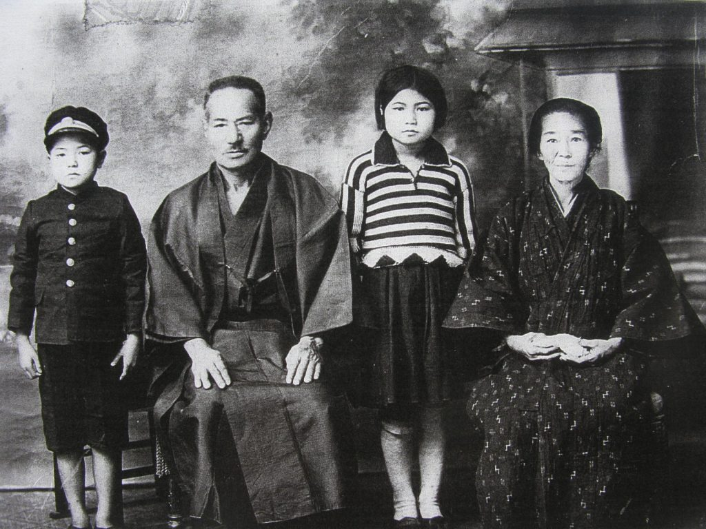 Junichi and Yoshino with their grandparents Bunchu and Kamado Nakasone in Okinawa in the 1930s. (Photos courtesy Dan Nakasone)