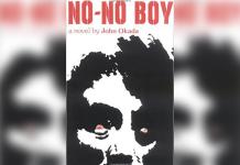 Book cover titled 'No-No Boy' a novel by John Okada