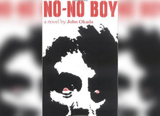 Book cover titled 'No-No Boy' a novel by John Okada