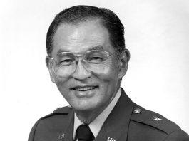 Black and white photo of Brig. Gen. Thomas S. Ito