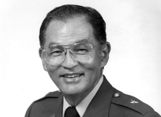 Black and white photo of Brig. Gen. Thomas S. Ito