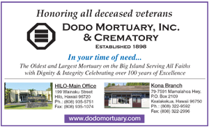 Ad for Dodo Mortuary, Inc. & Crematory 'Honoring all deceased veterans'
