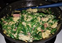 Fast and simple comfort food: Vienna sausage, green beans and eggs. (Photos courtesy of Ryan Tatsumoto)