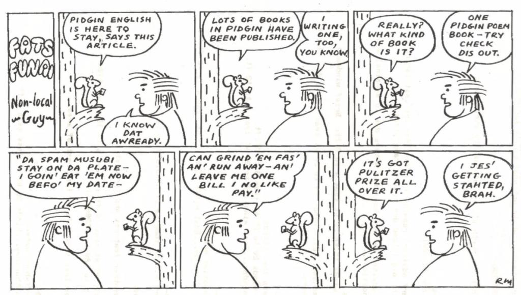 Comic strip touching on Hawaii's unique 'Pidgin'