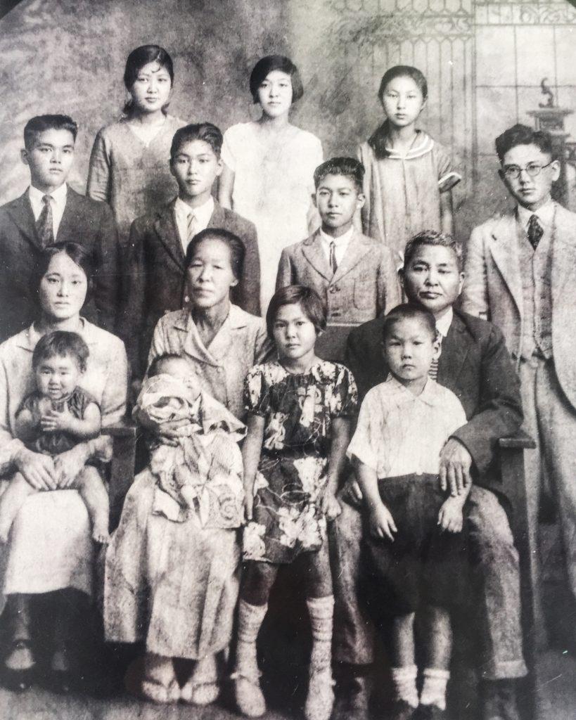 The Kimura family in 1928 during its Kimura Shoten days.