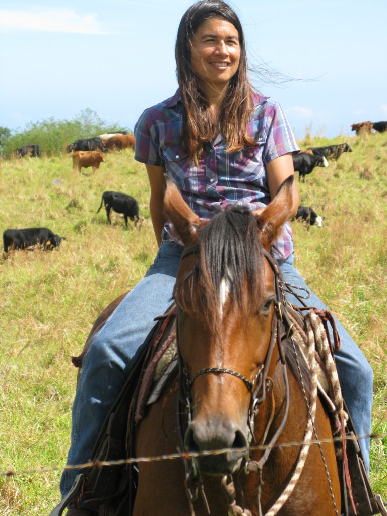 Michelle Galimba has her hands full helping to run her family's 3,000-head cattle ranch in Ka'ü and raising her daughter as a single mom. Still, she makes time to serve on numerous community advisory boards. (Photo courtesy Michelle Galimba)