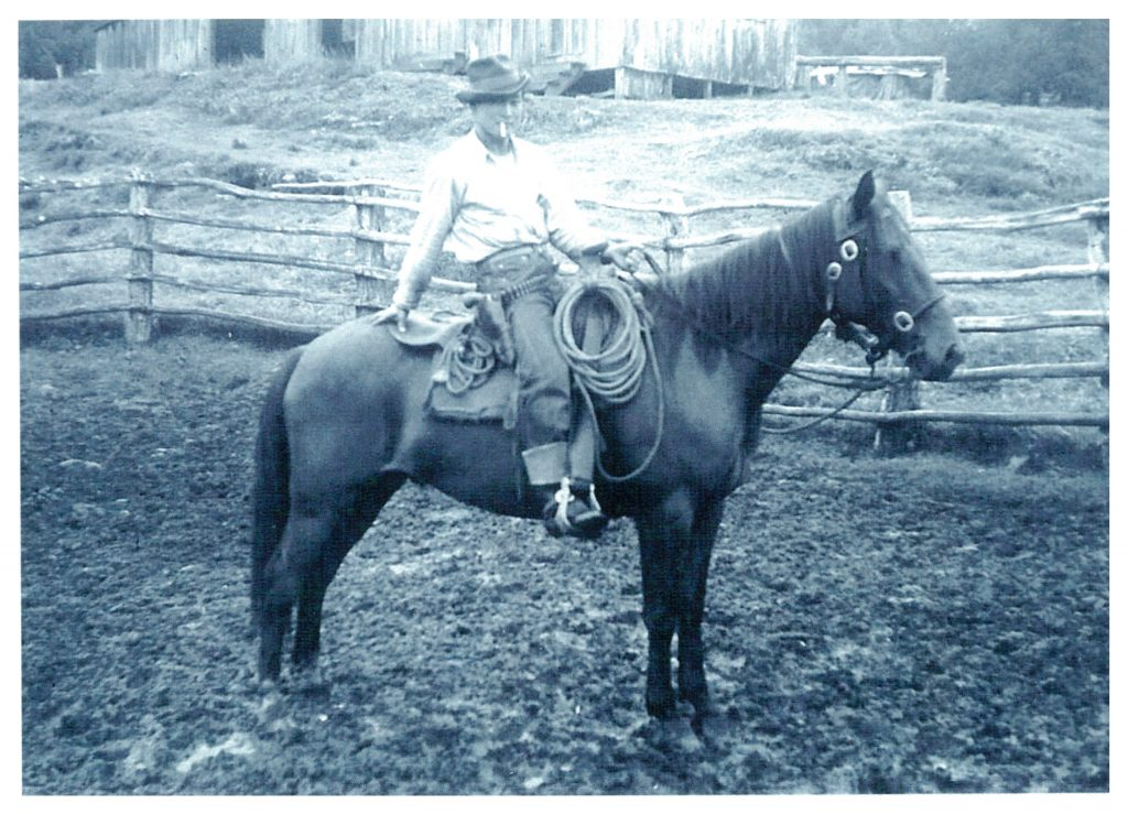 """Kükai'au Ranch cowboy Toshi Imoto on his horse. """"Toshi Imoto was one of the best all-around cowboys of that time,"""" said former Parker Ranch veterinarian Dr. Billy Bergin. (Photo courtesy Paniolo Preservation Society/Thomas Lindsey Collection)"""