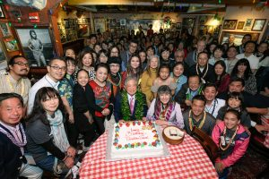 Happy Birthday to Sensei! After their memorable Carnegie Hall performance, Choichi Kai students, friends and family packed Bucca Di Beppo at Times Square to celebrate Choichi Terukina-Sensei's 88th birthday.