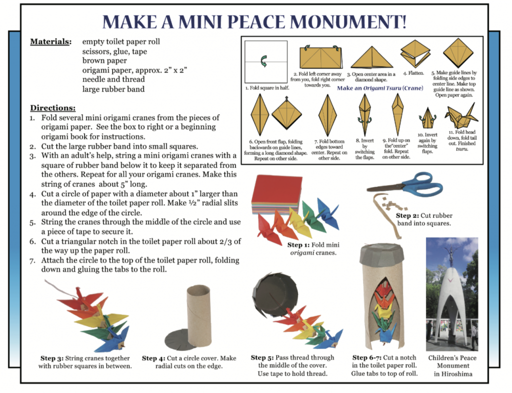Culture4Kids! Make a Mini Peace Monument, featured in August 2, 2019's issue
